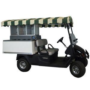 Fairway Café EZ Long Roof-EZ-GO Golf Beverage Cart Conversion