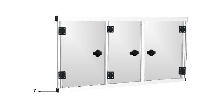 3 door with hinges
