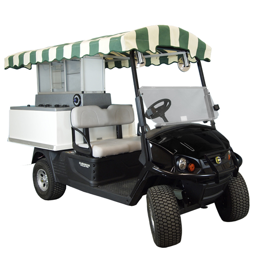 Fairway Café EZ Long Roof-EZ-GO Golf Beverage Cart Conversion