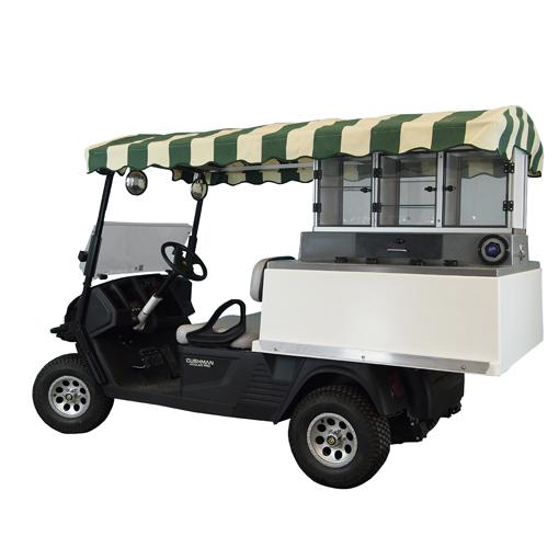 3 Door Long Roof Ez Go Hauler Fairway Cafe Golf Beverage Carts