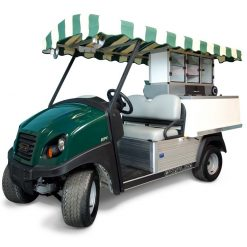 Fairway Cafe CC Log Roof - Club Car Golf Beverage Cart conversion