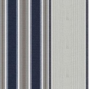 "Stripe 47"" 951/92 Denim / Almond"